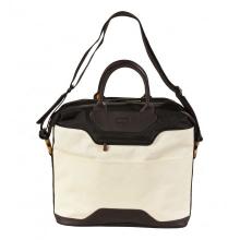 сумка через плечо QUER Q27 белая кожа+текстиль 882700-155