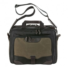 сумка через плечо QUER Q28 темно-оливковая кожа+текстиль 883600-401