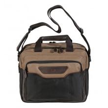 """Сумка для ноутбука QUER 13""""NEU коричневая кожа+текстиль 882800-403"""