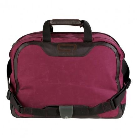Сумка через плечо Quer q3 красная кожа+текстиль 882000-788