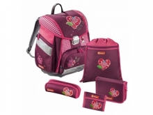 Ранец Hama Step by step Touch Tweedy Hearts розовый/рисунок 129086
