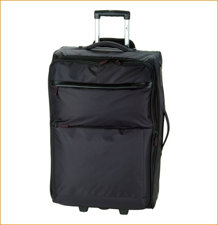 Чемодан Hardware lightweight l 2к черная текстиль 611100-938