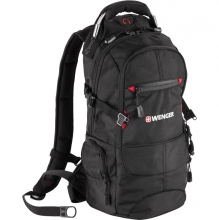 Рюкзак Wenger, чёрный/красный, полиэстер 210D PU, 23х18х47 см, 22 л 13022215