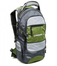 Рюкзак Wenger, серый/зеленый/серебристый, полиэстер 210D PU, 23х18х47 см, 22 л 13024415