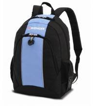 Рюкзак Wenger, чёрный/голубой, полиэстер, 32х14х45 см, 20 л 17222315