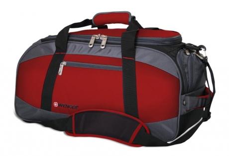 Сумка спортивная Wenger, красный/серый/чёрный, полиэстер 1200D, 52х25х30 см, 39 л 52744165