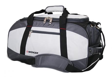 Сумка спортивная Wenger, серый/чёрный, полиэстер 1200D, 52х25х30 см, 39 л 52744465