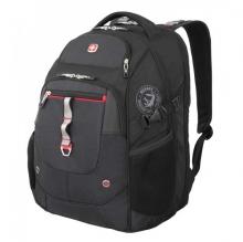 Рюкзак Wenger, чёрный/красный, полиэстер 900D/М2 добби/искуственная кожа, 34x22x46 см, 34 л 6968201408