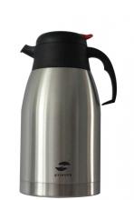Термо-кофейник Stinger,2 л, широкий, сталь, серебристый, чёрные вставки