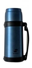 Термос Stinger, 1 л, широкий, сталь, матовый, синий