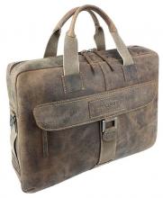 """Портфель на молнии WENGER """"ARIZONA"""", коричневый, мягкая кожа, 55x11x40 см"""