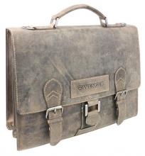 """Портфель WENGER """"STONEHIDE"""", коричневый, кожа, 38x14x33 см"""