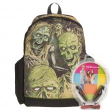 Рюкзак Mojo Walking Dead светящийся в темноте с наушниками, цвет черный WA-1505017