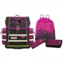 Школьный рюкзак  McNeill ERGO Light 912 S Streetcat- Уличный кот 4 предмета.