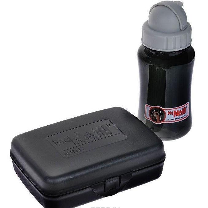 Комплект Mc Neil бутылка для напитков и Ланч бокс черный