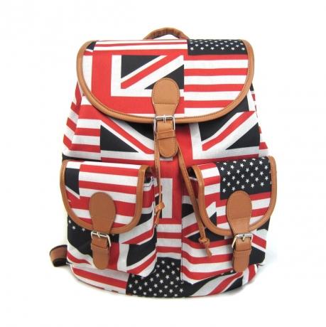 Рюкзак Creative British Flag с 2-мя карманами цвет синий/красный GL-BC853