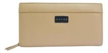 Клатч-кошелек Cross Melody кожа наппа тисненая цвет бежевый 50717