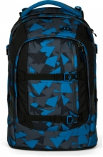 Рюкзак школьный ERGOBAG Satch Pack Blue Triangle с анатомической спинкой SAT-SIN-002-9D6