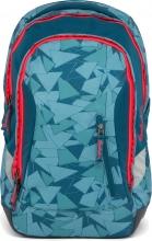 Рюкзак школьный ERGOBAG  Satch Sleek Petrol Triangle с анатомической спинкой SAT-SLE-001-9D5