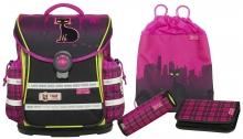 Школьный рюкзак McNeill  ERGO Light Plus 9606159000 Streetcat- Уличный кот 4 предмета.