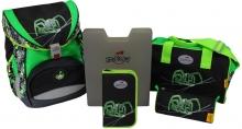 Ранец DerDieDas Ergoflex Green Spider- Кислотный паук 000405-031 с наполнением 5 предметов.