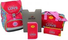 Ранец DerDieDas ErgoFlex Love- Настоящая любовь 000405-035 с наполнением 5 предметов 8405035