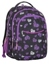 Рюкзак молодежный Explore Purple White Hearts (2 в 1) E1701-G60