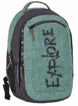 Рюкзак молодежный Explore Green Melange (2 в 1) E1701-G19