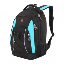 Рюкзак WENGER цвет черный/синий полиэстер 11862315-2
