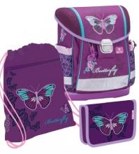 Ранец Belmil 403-13/633 SET CLASSY Butterfly с наполнением 3 предмета.