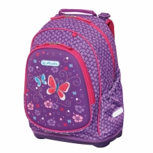 Рюкзак школьный Herlitz Bliss  Purple Butterfly, без наполнения 50013982