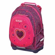 Рюкзак школьный Herlitz Bliss Pink Hearts, без наполнения 50014002