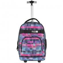 Рюкзак на колесах Paso SQUARE PINK 17-1230UI