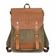Рюкзак/сумка GINGER BIRD ГРАСС 16 зелёный (подкладка рыжие лисы)