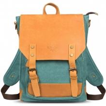Рюкзак/сумка GINGER BIRD ГРАСС 16 голубой (подкладка пингвины)