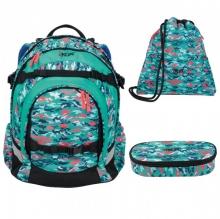 Рюкзак IKON Бирюзовый камуфляж  000200-16Set
