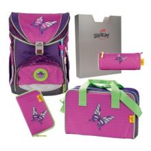 Ранец DerDieDas Ergoflex Papillon - Розовая бабочка 000405-076 с наполнением 5 предметов.