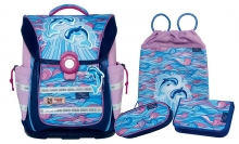 Школьный рюкзак McNeill ERGO Light PURE Exklusive-Line Flippi II - Дельфины II 4 предмета 9635172000.
