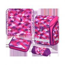 Ранец  Herlitz MIDI NEW PLUS Pink Cubes 50022083 с наполнением 4 предмета