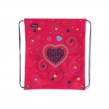 Мешок для сменной обуви Herlitz 50014583/2  Pink Hearts