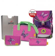 Ранец DerDieDas SuperLight Papillon - Розовая бабочка 000403-076 с наполнением 5 предметов.