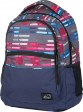Рюкзак Walker Base Classic Lines Blue Pink, 32x45x21 см