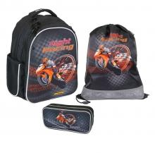 Рюкзак MagTaller Stoody  Motorbike 41819-15 с наполнением 3 предмета.