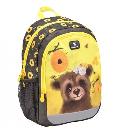 Рюкзак детский для девочек BELMIL - KIDDY PLUS Мишка от 3 до 6 лет.