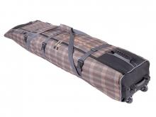 Чехол на колёсах для сноубордов и горных лыж 185-215 см коричневый гл053.215к