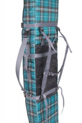 Чехол-рюкзак Course ФЬЮЖН для сноуборда 155см зеленая клетка сб024.155з