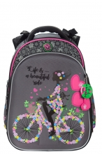 Школьный рюкзак Hummingbird Girl on a Bicycle T102(Gr)