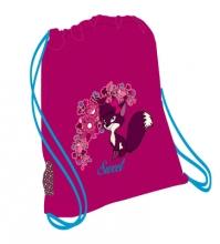 Мешок-рюкзак для обуви ANIMAL FOREST-FOXY 336-91/842 с вентилируемой сеткой и объемным карманом на молнии.