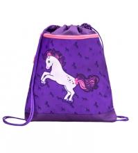 Мешок-рюкзак для обуви HORSE PURPLE 336-91/845 с вентилируемой сеткой и объемным карманом на молнии.