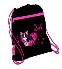 Мешок-рюкзак для обуви LITTLE FRIEND PUPPY 336-91/846 с вентилируемой сеткой и объемным карманом на молнии.